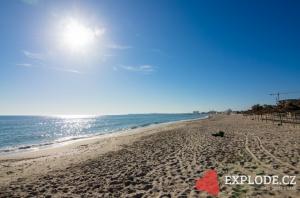 Pláž u hotelu Iberostar Royal El Mansour