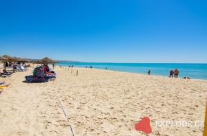 Pláž hotelu Samira Club