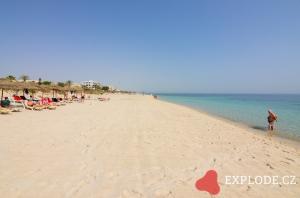 Pláž u hotelu Riu Imperial Marhaba