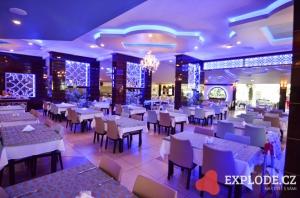 Osvětlená restaurace
