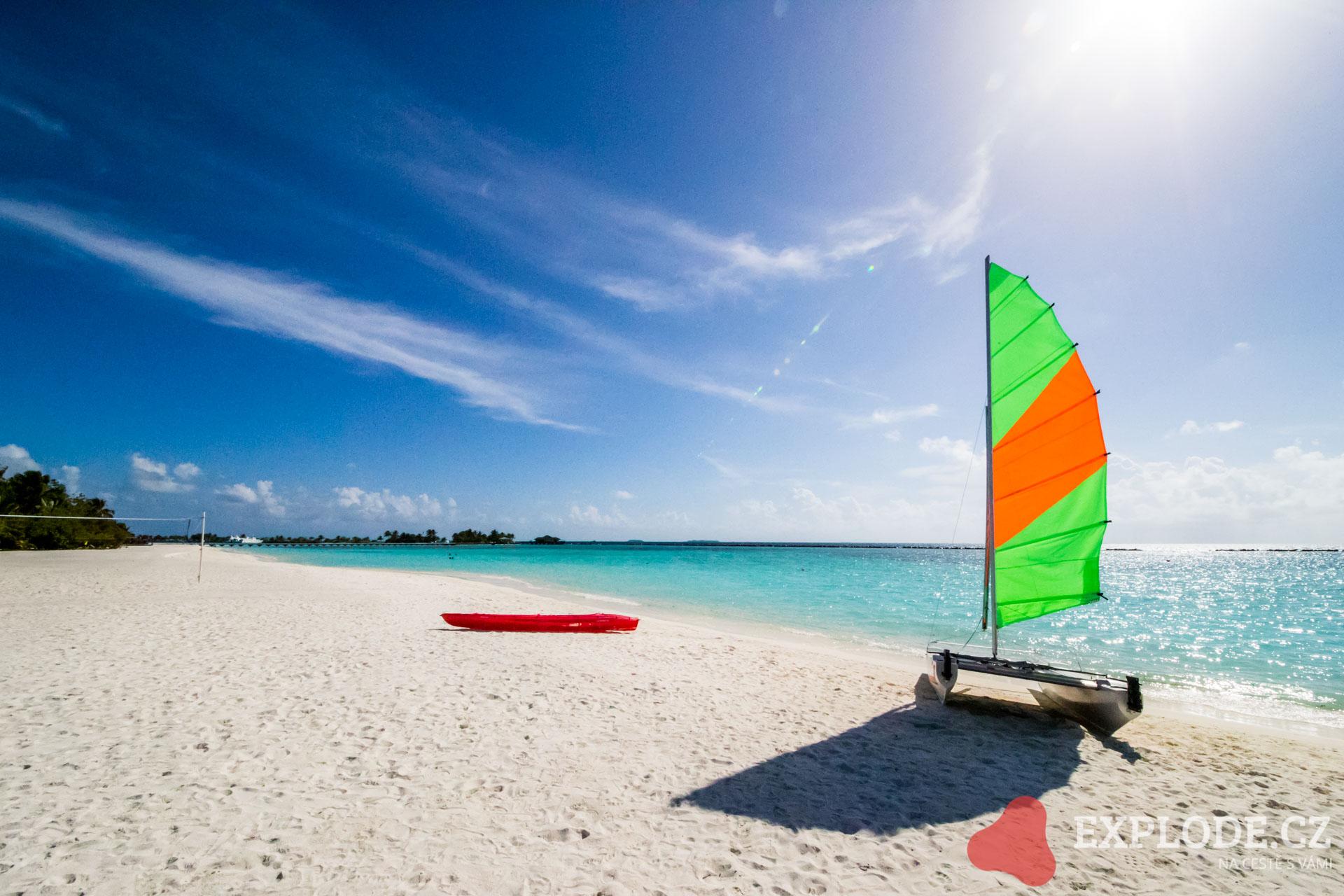 Windsurfing na Maledivách - Dovolená