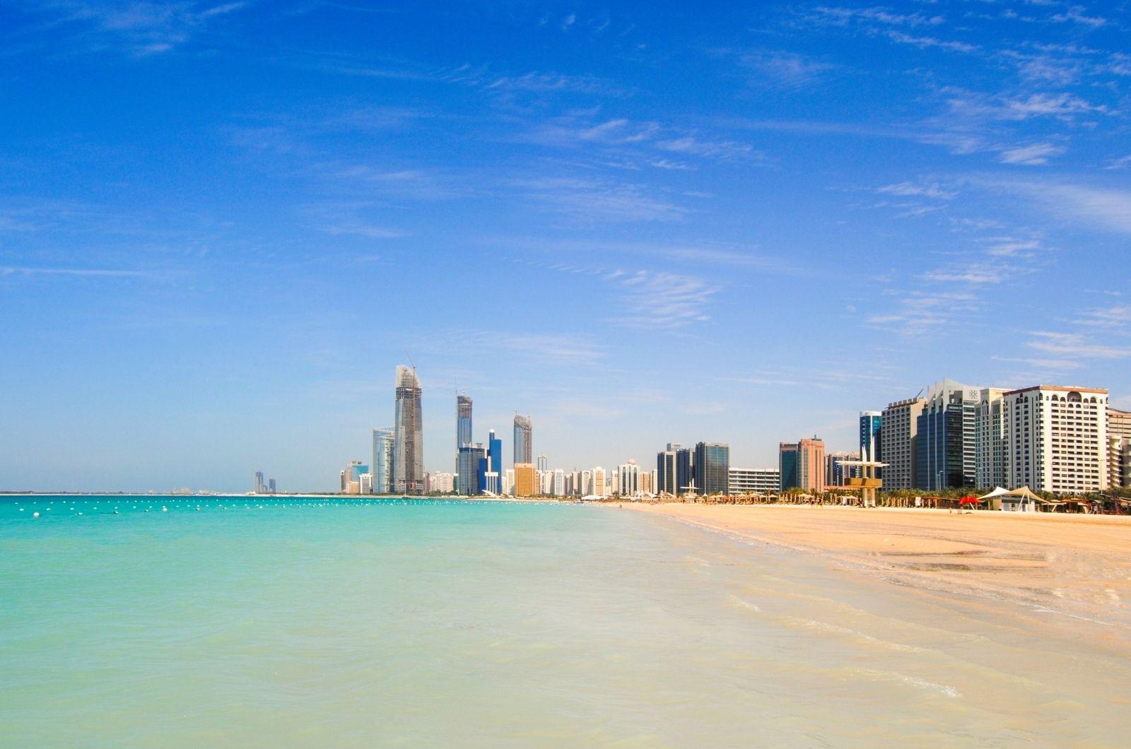 Písečné pláže Spojené arabské emiráty