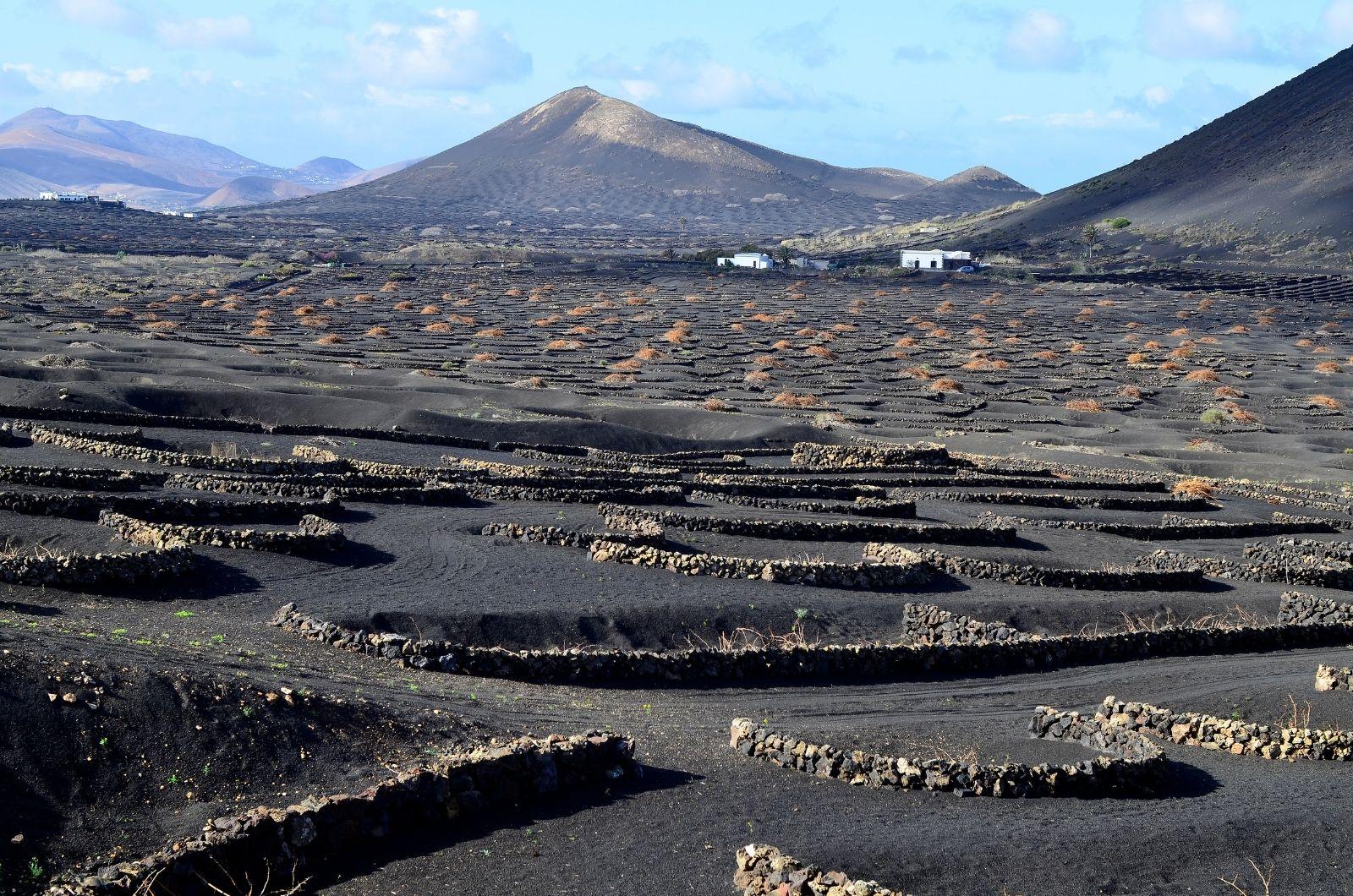 Sopečná krajina na Kanárských ostrovech