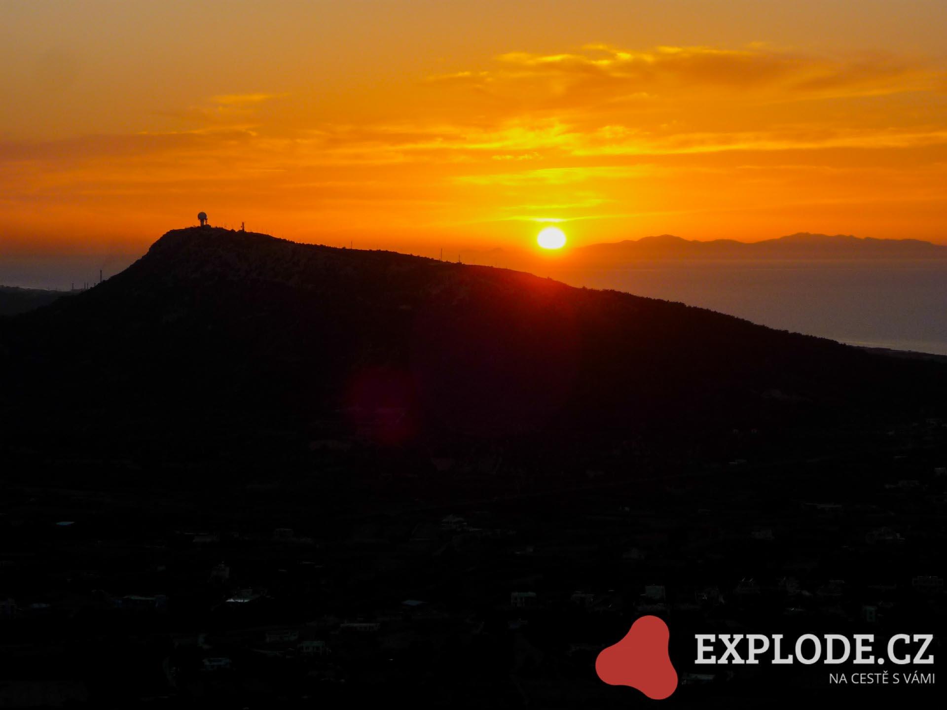 Západ slunce na Rhodosu