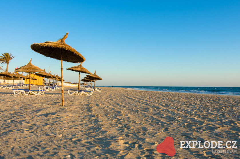 Písečné pláže Tunisko