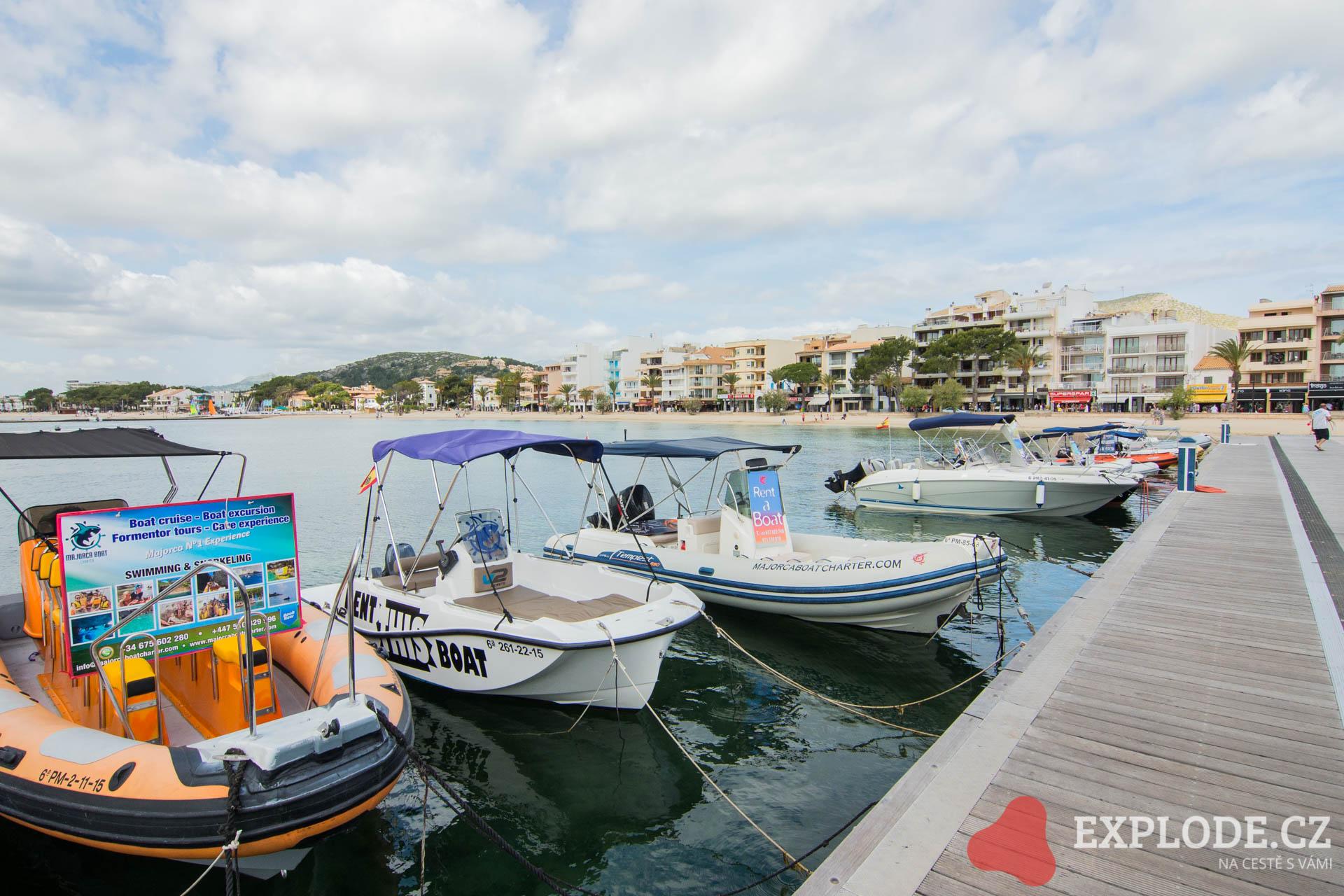 Plavba z přístavu Port de Pollenca na pláž Playa de Formentor