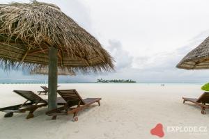 Pláž na ostrově Nalaguraidhoo - Sun Island Resort